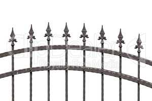 Old fashioned spike fence