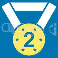 Second medal icon from Competition & Success Bicolor Icon Set