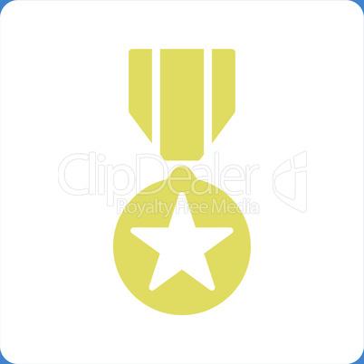 bg-Blue Bicolor Yellow-White--army award.eps