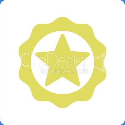 bg-Blue Bicolor Yellow-White--award seal.eps