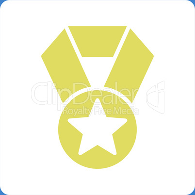 bg-Blue Bicolor Yellow-White--champion medal.eps