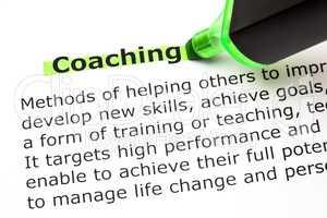 Coaching Definition
