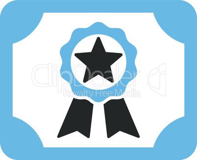 Bicolor Blue-Gray--award diploma.eps
