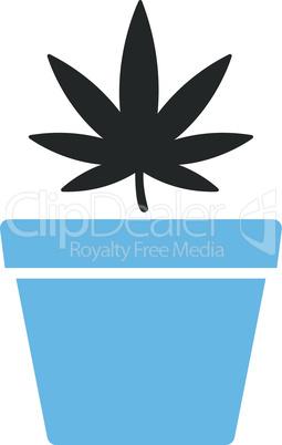 Bicolor Blue-Gray--cannabis pot.eps