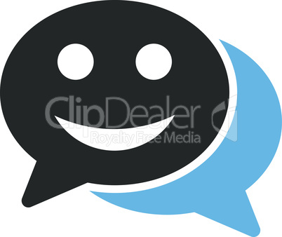 Bicolor Blue-Gray--happy chat.eps