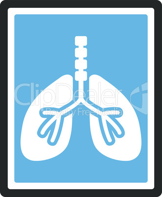 Bicolor Blue-Gray--lungs x-ray photo.eps