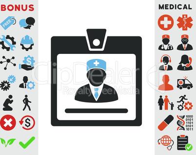 Bicolor Blue-Gray--doctor badge.eps