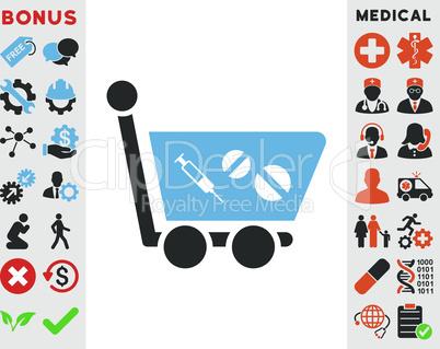 Bicolor Blue-Gray--medication shopping cart.eps