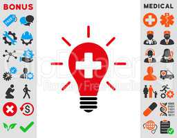 Medical Electric Lamp Icon