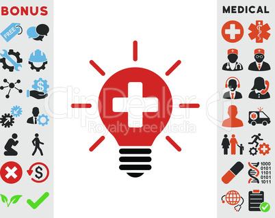 Bicolor Blood-Black--medical lamp.eps