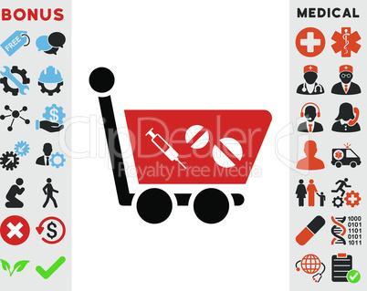 Bicolor Blood-Black--medication shopping cart.eps