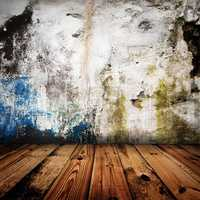 old grunge wall and wooden floor in a room