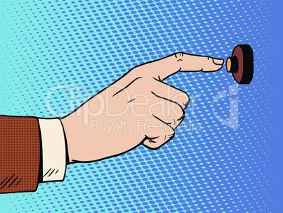 hand presses call button view profile