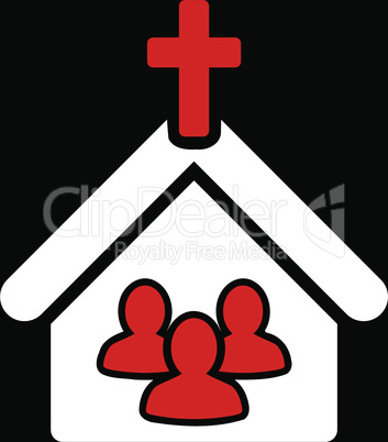bg-Black Bicolor Red-White--church.eps