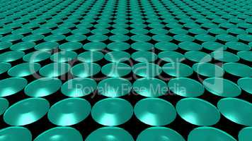 3D abstract green pattern circle front