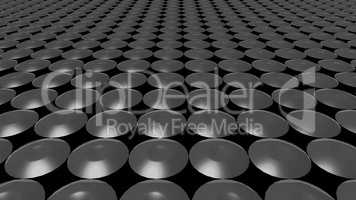 3D abstract grey pattern circle front