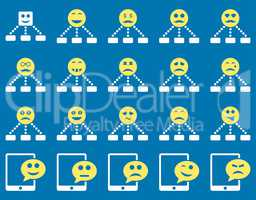 Emotion hierarchy and SMS icons