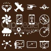 Aircraft navigation icon set