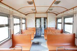 inside of carriage of electric train