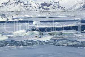 Global warming at glacier lagoon Jokulsarlon, Iceland