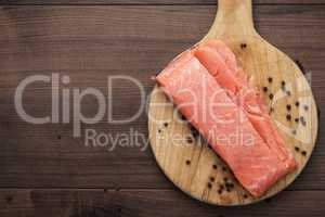 salted trout on the hardboard