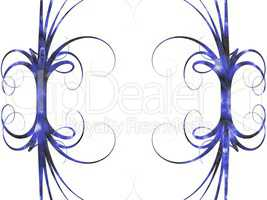 blue frame. curve background