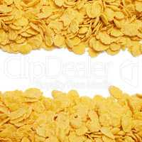 cornflakes background with copy space in the centre