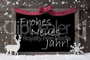 Gray Christmas Card, Snowflakes, Loop, Neues Jahr Mean New Year