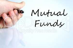 Mutual funds text concept