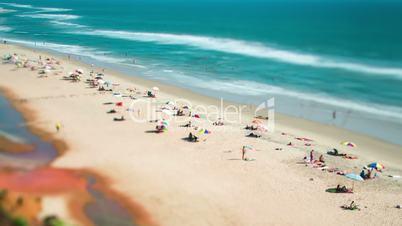 Timelapse Beach on the Indian Ocean. India (tilt shift lens).