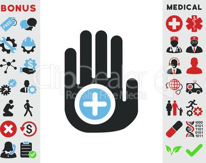 Bicolor Blue-Gray--hand medical marker.eps