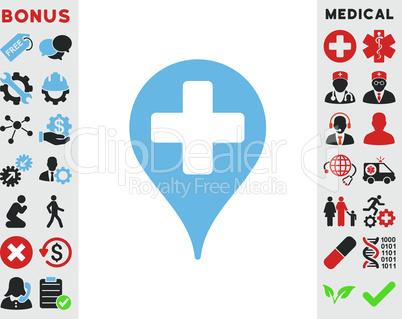 Bicolor Blue-Gray--medical map marker.eps