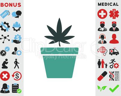 Bicolor Soft Blue--cannabis pot.eps