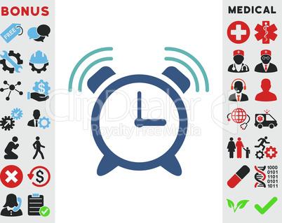 BiColor Cyan-Blue--alarm clock ring.eps