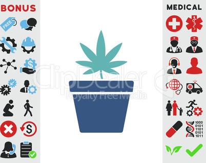 BiColor Cyan-Blue--cannabis pot.eps