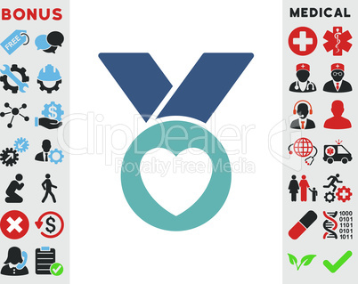 BiColor Cyan-Blue--charity medal.eps
