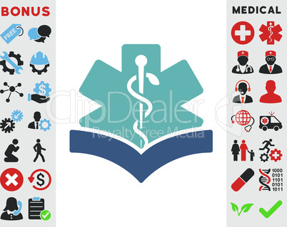 BiColor Cyan-Blue--medical knowledge.eps