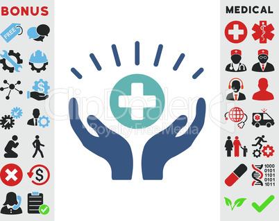 BiColor Cyan-Blue--medical prosperity.eps