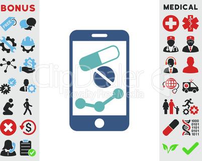 BiColor Cyan-Blue--pharmacy online report.eps
