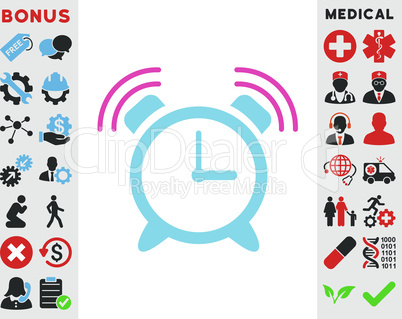 BiColor Pink-Blue--alarm clock ring.eps