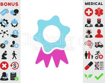 BiColor Pink-Blue--award seal.eps