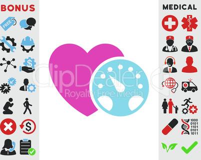 BiColor Pink-Blue--blood pressure meter.eps