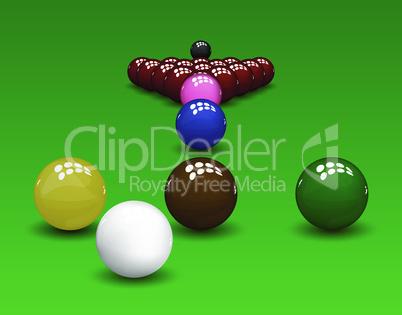 Snooker Pyramid Balls