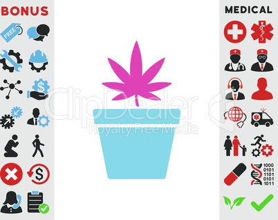 BiColor Pink-Blue--cannabis pot.eps