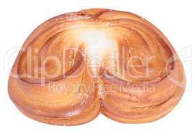 twist bun with heart shape
