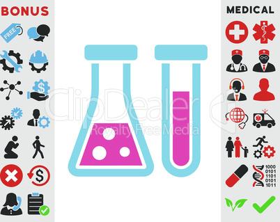BiColor Pink-Blue--chemistry.eps