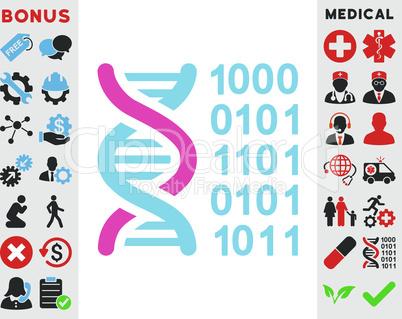 BiColor Pink-Blue--genetical code.eps