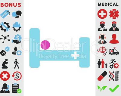 BiColor Pink-Blue--hospital bed.eps