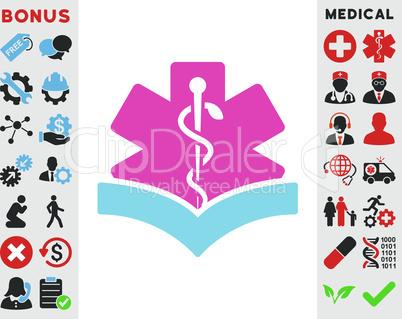 BiColor Pink-Blue--medical knowledge.eps