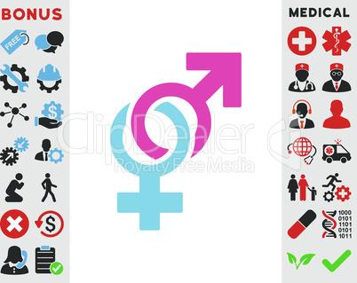 BiColor Pink-Blue--sexual symbols.eps